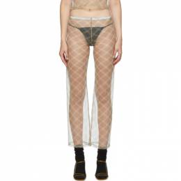 Maryam Nassir Zadeh SSENSE Exclusive Beige and Grey Check Dance Pants 2076