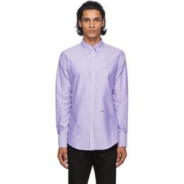 Dsquared2 Purple Oxford 70s Shirt S74DM0416 S47420