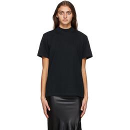 Yohji Yamamoto Black New Era Edition Mock Neck T-Shirt HR-T98-079