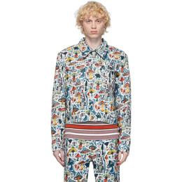 Charles Jeffrey Loverboy Multicolor Denim Shrooms Art Jacket COREAW20ADJ