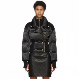 Balmain Black Quilted Four-Button Jacket UF19394X416
