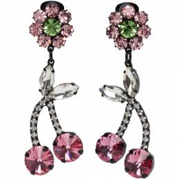 Ashley Williams Pink Crystal Cherry Earrings AWAW20242