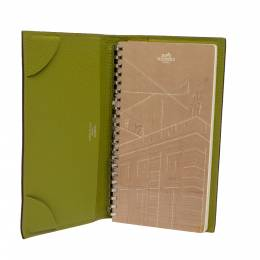 Hermes Feu Chevre Mysore Leather Agenda Cover 330054