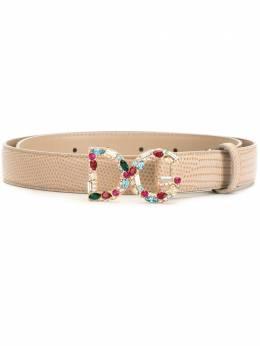 Dolce&Gabbana bejeweled DG buckle belt BE1272AU772
