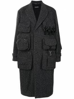 Dolce&Gabbana длинное пальто строгого кроя G024KTFC2E6