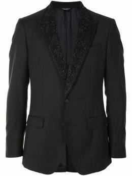 Dolce&Gabbana пиджак с декорированными лацканами G2NE4ZFU2Z9