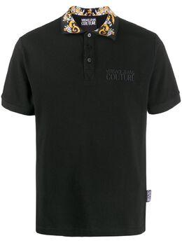 Versace Jeans Couture рубашка поло с контрастным воротником EB3GZA74TE36571