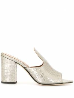 Paris Texas metallic open-toe mules PX56XCLAB