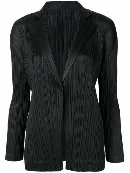 Pleats Please Issey Miyake pleated single-breasted blazer PP88JD202
