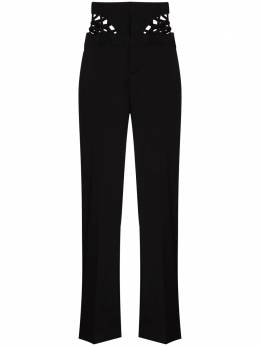 Y / Project cutout-detail high-waist trousers WPANT62S19