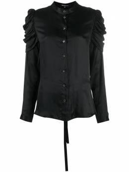 Ann Demeulemeester блузка с длинными рукавами и сборками 20022028122