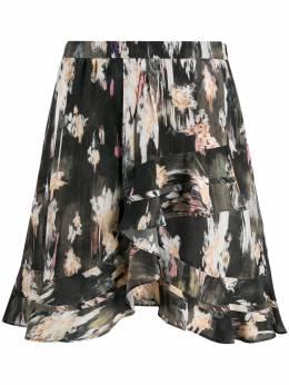 Iro юбка Clemire асимметричного кроя с оборками WM31CLEMIRE