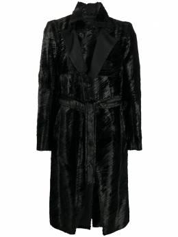Ann Demeulemeester однобортное пальто длины миди 20023102204