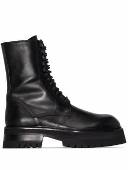 Ann Demeulemeester массивные ботинки на шнуровке 20022948390