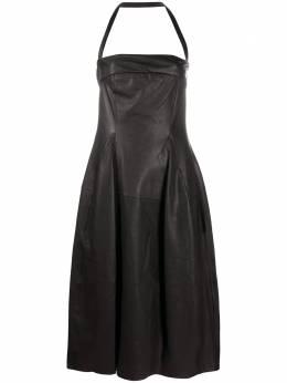 Gentry Portofino платье миди с вырезом халтер D524NU