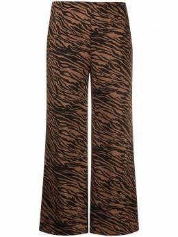Liu Jo укороченные брюки с анималистичным принтом WF0112J4028