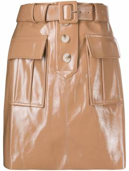 Self-Portrait faux leather mini skirt AW20135S