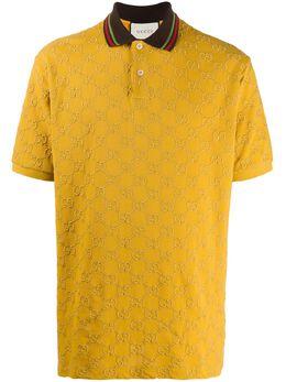 Gucci рубашка поло с вышитым узором GG Supreme 598956XJCNX