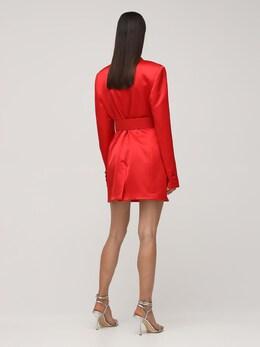 Платье Из Полушерстяного Атласа Giuseppe Di Morabito 72IWW4039-UkVEIDA00