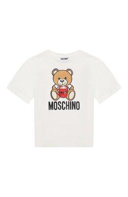 Хлопковая футболка Moschino H6M029/LBA11/4A-8A