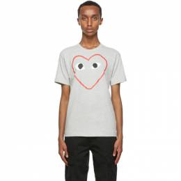 Comme Des Garcons Play Grey Big Heart T-Shirt P1T266