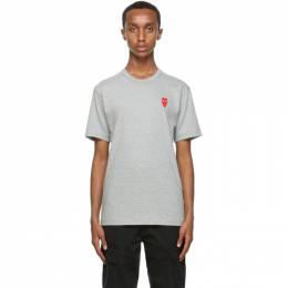 Comme Des Garcons Play Grey Long Heart T-Shirt P1T230