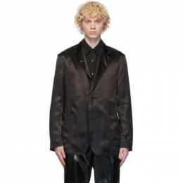 Dunhill Black Satin Wrap Blazer DU20FH042S2