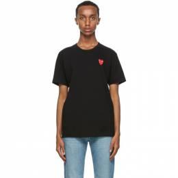 Comme Des Garcons Play Black Double Heart T-Shirt P1T288