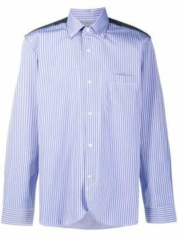 Junya Watanabe Man contrast panel striped buttoned shirt WFB001051
