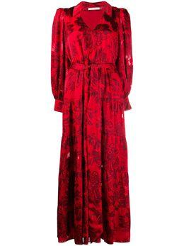 Alice + Olivia платье-рубашка с цветочной вышивкой CC008B36510