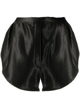 Ann Demeulemeester атласные шорты с эластичным поясом 20021610196