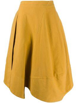 Stefano Mortari юбка асимметричного кроя со вставками K20037