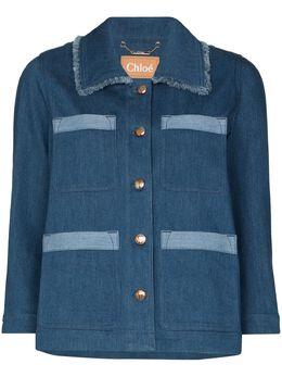 Chloe джинсовая куртка с контрастными вставками C20ADV01153
