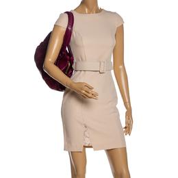 Coach Burgundy Leather Ergo Lace Frame Shoulder Bag 328420