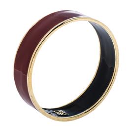 Carolina Herrera CH Red Enamel Gold Tone Wide Bangle Bracelet Ch Carolina Herrera 329708