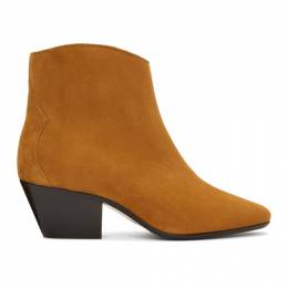 Isabel Marant Tan Dacken Ankle Boots 20ABO0166-20A007S