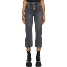 Sjyp Black Side Button Jeans PW2A9NPC219W