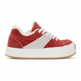 Palm Angels Red Low Top Snow Sneakers PMIA051F20LEA0012501