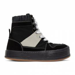 Palm Angels Black Snow High-Top Sneakers PMIA052F20FAB0011001