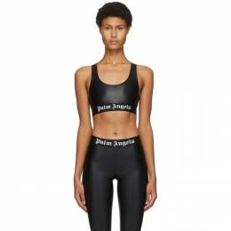 Palm Angels Black Logo Sports Bra PWFA009F20FAB0011001