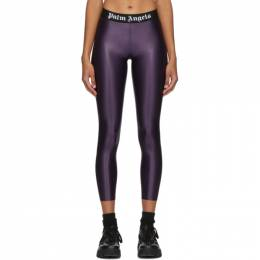 Palm Angels Purple Logo Leggings PWCD006F20FAB0013701