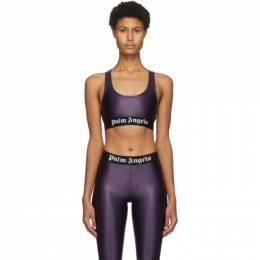 Palm Angels Purple Logo Sports Bra PWFA009F20FAB0013701