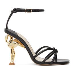 Sophia Webster Black Flo Flamingo Heeled Sandals FAW20044