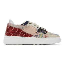 By Walid Multicolor Silk Sneakers C290631M