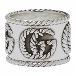 Gucci Silver Double G Ring YBC627753001