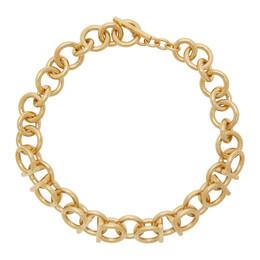 Salvatore Ferragamo Gold 3D Dia20 Necklace 736265