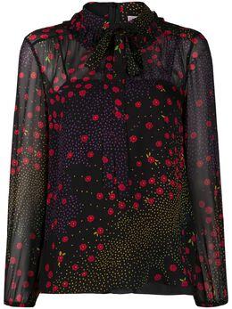 Red Valentino блузка с цветочным принтом UR0ABE455DQ