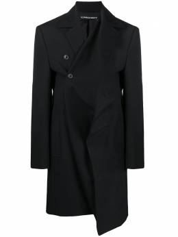 Y / Project cross front single breasted coat COAT33S19