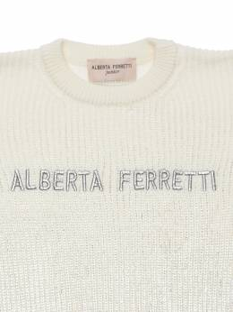 Трикотажный Свитер Из Смешанной Шерсти Alberta Ferretti 72I1V4020-MDAy0