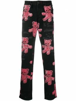 Philipp Plein прямые джинсы с принтом Teddy Bear F20CMDT2239PDE004N